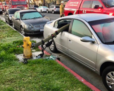 What happens when you park in front of a fire-hydrant?