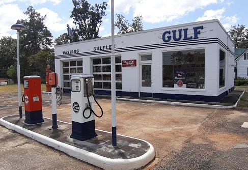 Vintage Gulf Gas Station